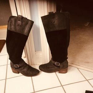 Lucky brand woman's Kailan equestrian black boots